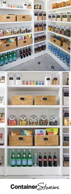 5 Steps to An Organized Pantry with Neat Method and The Container Store Pretty neat! See how our friends at Neat Method organized a pantry using some Kitchen Organization Pantry, Home Organisation, Organizing Ideas, Organization Hacks, Kitchen Storage, Organized Pantry, Pantry Ideas, Kitchen Hacks, Kitchen Ideas