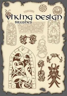 The high definition Vikings Viking design pattern PS brush Norse Pagan, Norse Symbols, Ancient Symbols, Viking Knotwork, Viking Runes, Viking Designs, Celtic Designs, Celtic Knot Tutorial, Viking Pattern