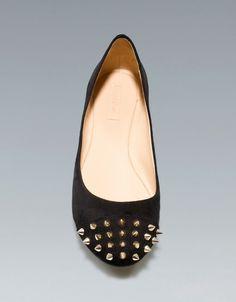 POINTED STUDDED BALLERINA - Shoes - Woman - ZARA Croatia (Hrvatska)
