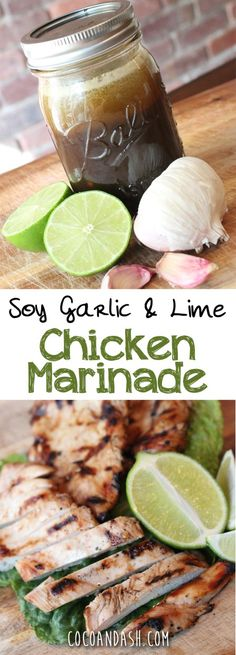 This makes the juiciest tastiest chicken you'll ever have!! PERFECT FOR A COOKOUT! #chicken #marinade #grilling