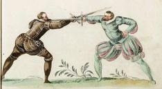 Stylish German Fencing Attire from the 16th Century, From Meyer 1560.