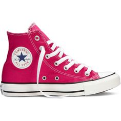Converse Chuck Taylor All Star Fresh Colors – pink Sneakers ($40) ❤ liked on Polyvore featuring shoes, sneakers, converse, trainers, 18. converse., pink, high top shoes, pink trainers, pink high top sneakers and pink shoes