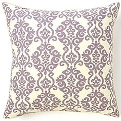 @Overstock - Luminari Lilac Cotton Decorative Pillow - Dress up your decor with a bold decorative pillow. Crafted by artisans in the United States, this Luminari pillow offers a simple shape with a large kalediascope lilac and white print.    http://www.overstock.com/Main-Street-Revolution/Luminari-Lilac-Cotton-Decorative-Pillow/6417937/product.html?CID=214117  $84.99