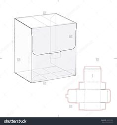 Retail Box With Blueprint Template Stock Vector Illustration 304991054 : Shutterstock