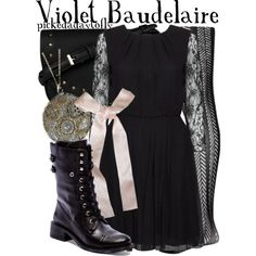 """Violet Baudelaire"" by pickedadaytofly on Polyvore"