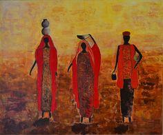 Cuadro: África - Autora: Mónica Abumohor