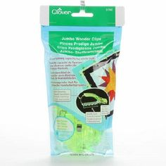 Jumbo Wonder Clips 24 Piece Package in Neon Green by Clover
