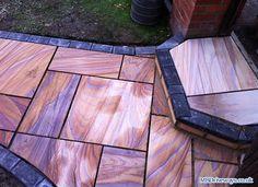 Block Paving, Driveways and Patio Pictures - Photo 47 Sandstone Paving, Flagstone, Floor Design, House Design, Patio Pictures, Rustic Log Furniture, Decking Area, Block Paving, Landscape Fabric