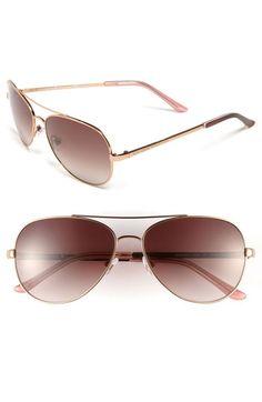 kate spade new york 'avaline' 58mm aviator sunglasses | Nordstrom -- rose gold/brown gradient