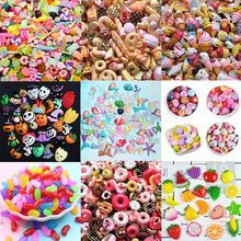 Slime charms 8pcs Cute Candy Charms For Slime Filler Cake Ornament Phone Decoration Charms Slime Supplies Toys 10