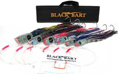 Black Bart Tournament Blue Marlin Rigged Lure Pack Double Hooks