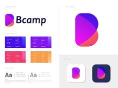 B letter logo design for Bcamp by Eashin Arafth Best Logo Design, Branding Design, Graphic Design, B Letter Logo, Lab Logo, Abstract Logo, Brand Guidelines, Modern Logo, Logo Design Inspiration