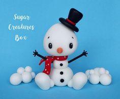 Bałwanek - figurka na tort Snowman cake topper Christmas Cake Decorations, Christmas Ornament Crafts, Snowman Crafts, Christmas Crafts For Kids, Diy Christmas Gifts, Holiday Crafts, Winter Christmas, Ornaments, Cake Topper Tutorial