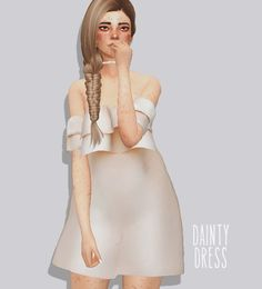 Pure Sims: Dainty dress • Sims 4 Downloads