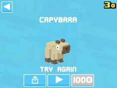 Just unlocked Capybara! #crossyroad