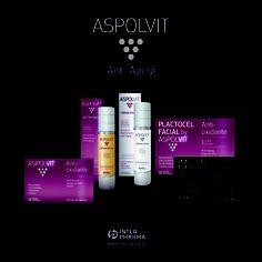 ASPOLVIT Anti-Aging, completo repertorio de belleza en cinco presentaciones para lograr una piel sana, joven  y llena de vida.   www.interpharma.es  www.facebook.com/AspolvitAntiAging?fref=ts