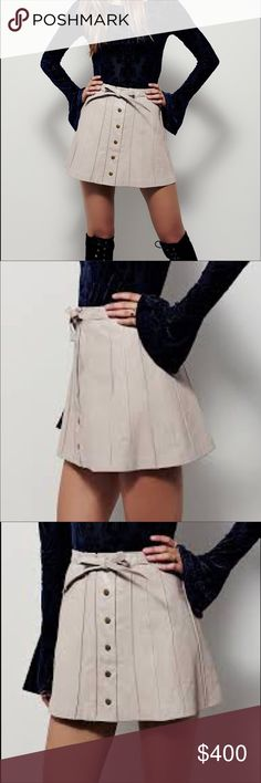 BNT FREEPEOPLE GENUINE LEATHER PLEADED MINI SKIRT HIT BUY BUTTON OR BUNDLE FOR A BETTER DISCOUNT. CLOSET CLEARANCE EVERYTHING MUST GO ASAP. THANK YOU AND GOD BLESS. MOST REASONABLE OFFERS WILL BE ACCEPTED. XXOO  IF YOU HAVE ANY QUESTIONS PLEASE ASK BEFORE PURCHASING. THANK YOU 🙏🏼 Free People Skirts