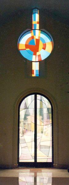 Portale d'ingresso e rosone – cm. 160 x 360 e cm. 160 x 360 #Stained-glass