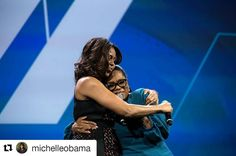 """#Repost @michelleobama- #IAmSimplyBeautiful  """"You make me proud to spell my name W-O-M-A-N."""" @Oprah to the First Lady channeling the words of the late Maya Angelou yesterday at the @WhiteHouse's #StateOfWomen Summit."""