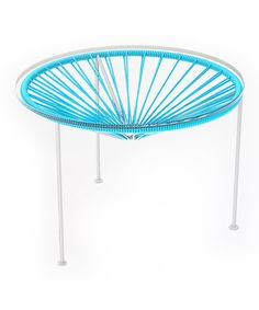 Look what I found on #zulily! Blue & White Zica Table #zulilyfinds