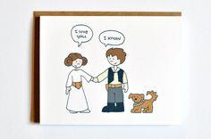 Star Wars I love you card - Han Solo and Leia
