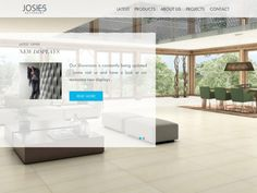 Brochure website for bathrooms and tiles. Beautiful Web Design, This Is Us, Bathrooms, Tiles, Website, Bed, Projects, Furniture, Home Decor