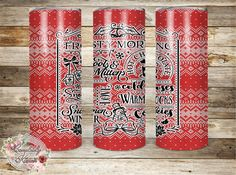 Christmas winter quotes | Digital Sublimation Tumbler Templates |