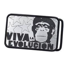 Unisex Funny Viva La Evolucion Monkey Che Guevara Belt Buckle