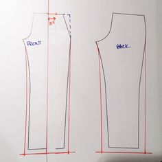 How to modify pattern to make wide legged trousers