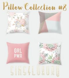 Pillow Collection #8 by Sims 4 Luxury for The Sims 4