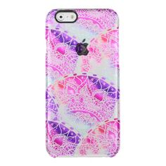 9f46f0ccf8b Hand drawn pink purple watercolor paisley scallop uncommon clearly™  deflector iPhone 6 case Iphone Case