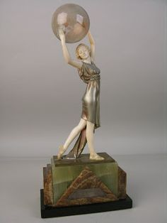 "Ferdinand Preiss bronze and ivory of the dancer Ada May entitled ""Lighter than air"" Germany, circa 1930."