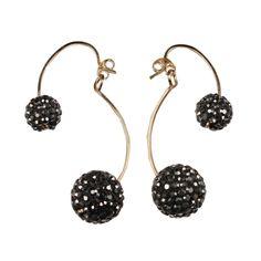 By Boe earrings- double crystal earring E409