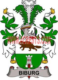 Biburg coat of arms / family crest #denmark #by name #symbol #family #shield #crest #by last name #genealogy #heraldry #shields #danish #tattoo #craft #logo