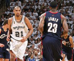 "5. June 7, 2007: Spurs vs. Cavaliers, Game 1. Heading into the series, all the talk was about LeBron James, who'd just decimated the Pistons (remember that Game 5 explosion?) and had the Cavs looking strong. But ""The King"" struggled in Game 1, missing 12 of 16 shots, while Duncan (24 points, 13 rebounds, five blocks, two steals) and Tony Parker (27 points, seven assists) dominated to stake the Spurs to a 1-0 lead."