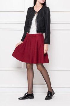 Dámska krátka vínová sukňa Skater Skirt, Skirts, Fashion, Moda, Fashion Styles, Skater Skirts, Skirt, Fashion Illustrations