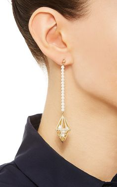 Couture Losange Dress Earrings by MELANIE GEORGACOPOULOS for Preorder on Moda Operandi