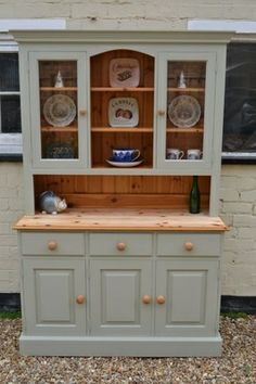 Country Style Hutches Painted Dresser Hutch Dressers