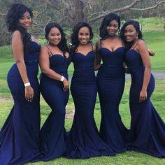 Burgundy african bridesmaids dresses Long Elegant Mermaid Wedding ... 7b4cfc41b35a