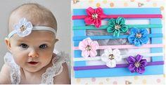 6pcs Kids Girl Baby Children Golden Flower Headband Hair Band Bow Accessories