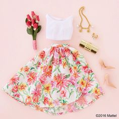 """""""A classic ladylike look with a pop of print!  #barbie #barbiestyle"""""""