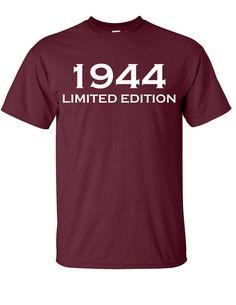 1944 Limited Edition 70th Birthday Party Shirt T-Shirt Tee Shirt T Shirt Mens Ladies Womens Funny Modern Tee  B-188
