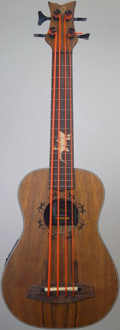 "[Uke of the day 2015] My Ortega ""Lizard"" Uke Bass at Ukulele Corner --- https://www.pinterest.com/lardyfatboy/"