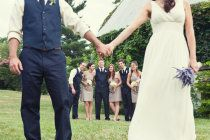 Cropped bridal party
