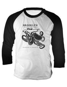 Men's Grooming Products - Men's Octopus Baseball Tee