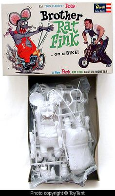 """Brother Rat Fink Model. I had this and several other """"Big Daddy Roth"""" model kits.  Loved these."""