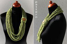 Crochet Pattern - Crochet Chain Scarf (Pattern No. 023)