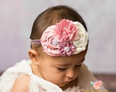 Baby Headband Baby Headbands Newborn por PrettyandPoshCouture