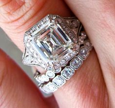 asscher cut emerald | ... of the Week - Stunning 2.5-Carat Emerald Cut Diamond Ring | PriceScope