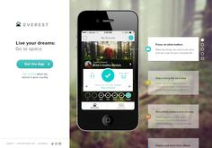 Everest app mobile landing page (as of is now a looping video) 20 Gorgeous Mobile App Landing Pages Web Design, Page Design, Graphic Design, Mobile Landing Page, Mobile App Templates, Social Media Digital Marketing, Mobile App Design, Mobile Ui, Web Layout